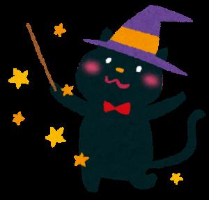 ハロウィンの黒猫の衣装