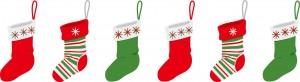 クリスマスプレゼントを靴下へ