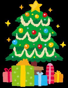 クリスマスプレゼントとツリー